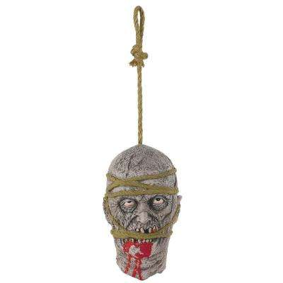 11 in. Halloween Zombie Hanging Head Prop