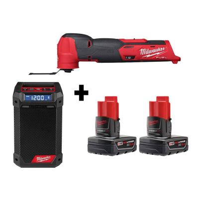 M12 FUEL 12-Volt Lithium-Ion Cordless Oscillating Multi-Tool and Jobsite Radio with two 3.0 Ah Batteries