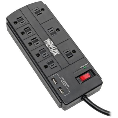 Protect It 8-Outlet Surge Protector with 2 USB Ports