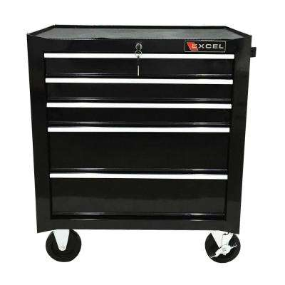 Steel Roller Cabinet,Black 26.8 in. W x 17.1in.D x 31.3in. H, Each