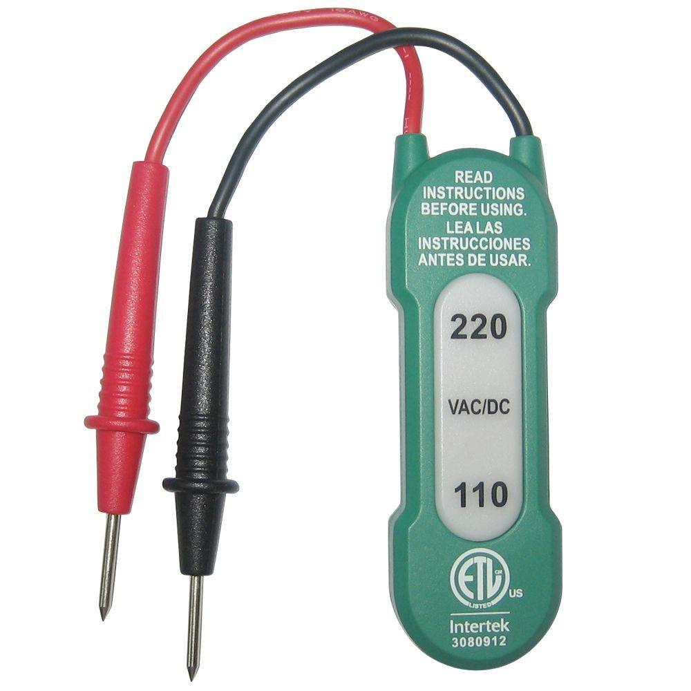 Voltage Tester Electrical Testers Tools The Home Depot Make This Simplest Continuity Circuit Electronic 110 220 Vac