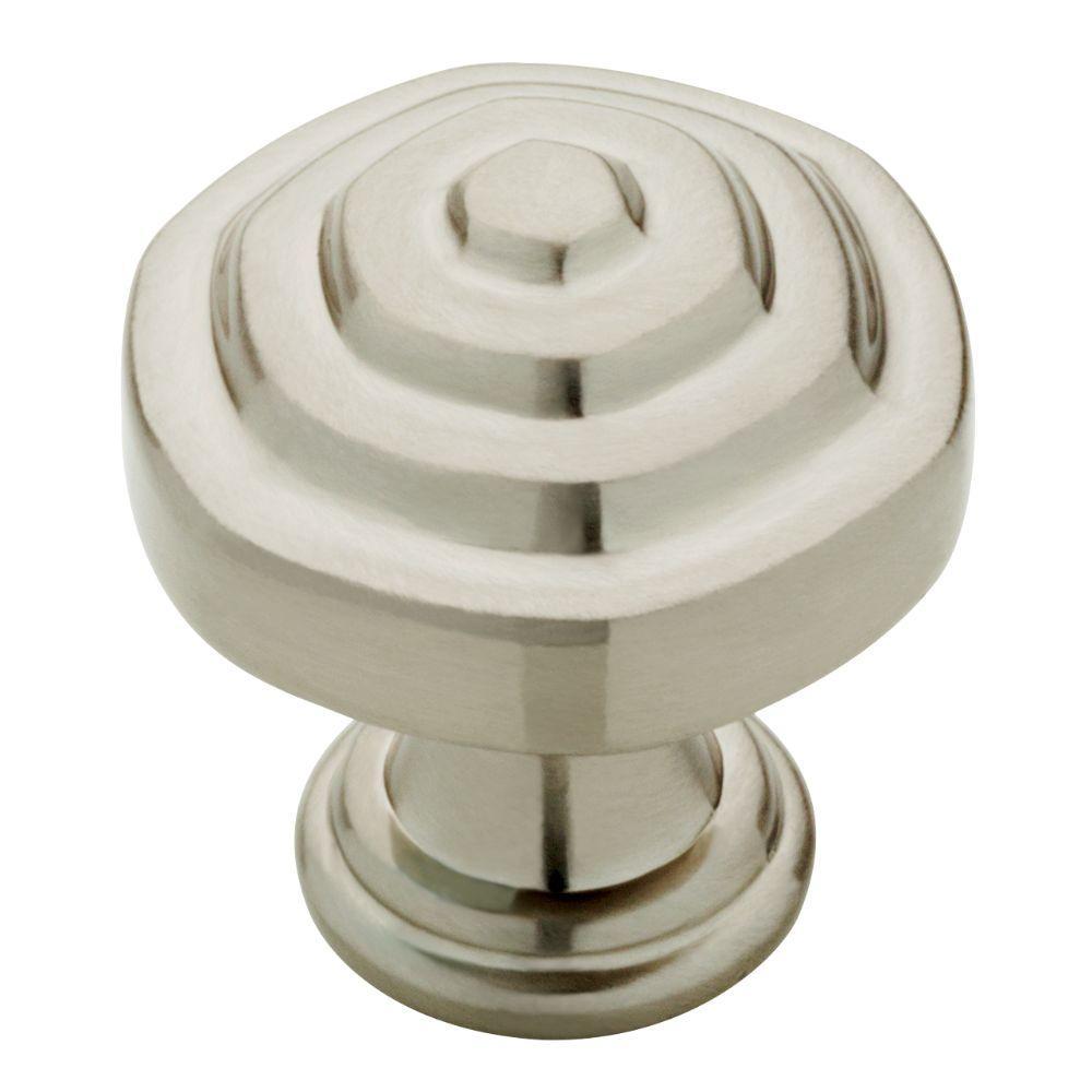 Parson 1-1/8 in. Satin Nickel Cabinet Knob