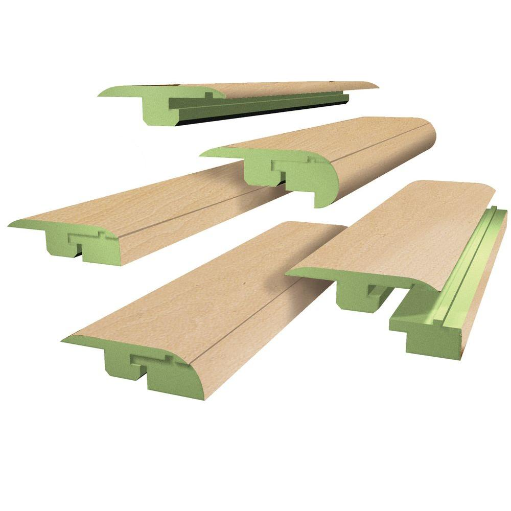 FasTrim Beech Block 1.06 in. Thick x 1.77 in. Wide x 78 in. Length 5-in-1 Laminate Molding