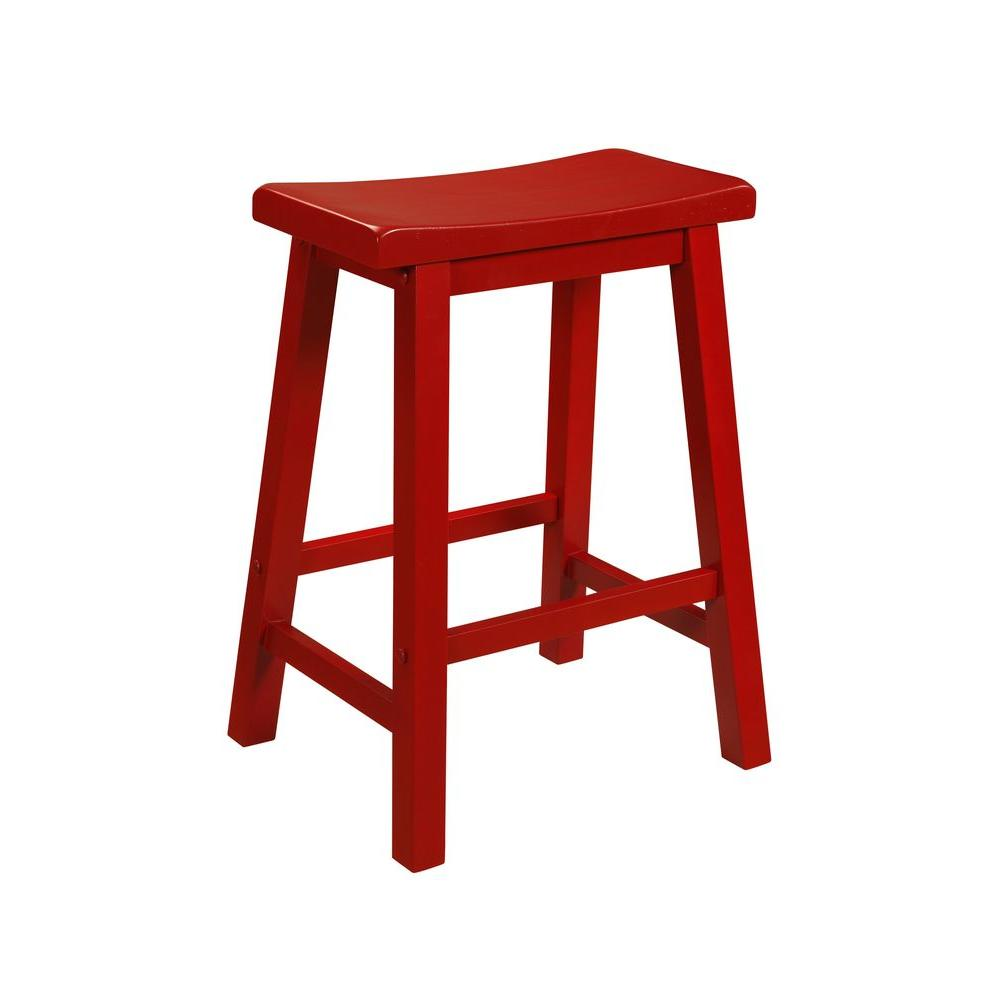 24 in. Crimson Bar Stool