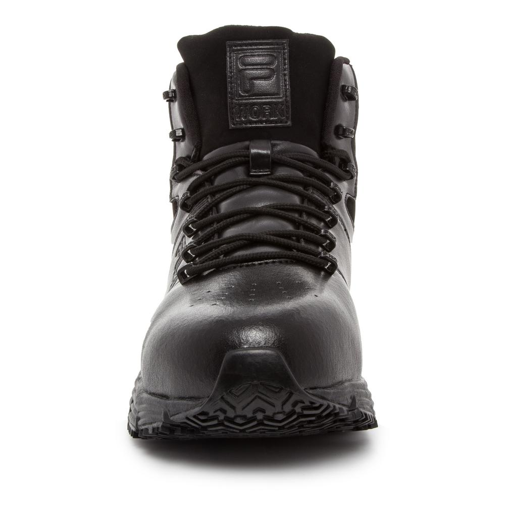 Fila Men's Memory Breach Slip Resistant Oxford Shoes Steel Toe BLACK Size 8(M)