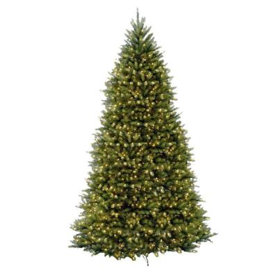12 ft. Dunhill Fir Pre-Lit Artificial Christmas Tree with 1500 Clear Mini Lights