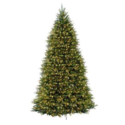 12 ft Dunhill Fir LED Pre-Lit Artificial Christmas Tree with 1500 White Mini Lights