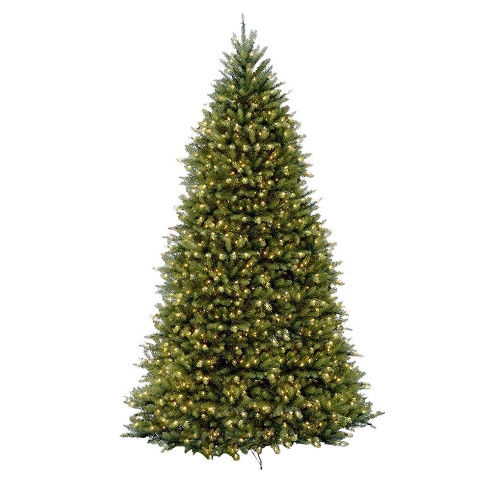 dunhill fir artificial christmas tree with 1500 clear lights - Decorated Artificial Christmas Trees