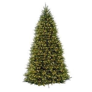 dunhill fir artificial christmas tree with 1500 clear lights duh3 120lo s the home depot