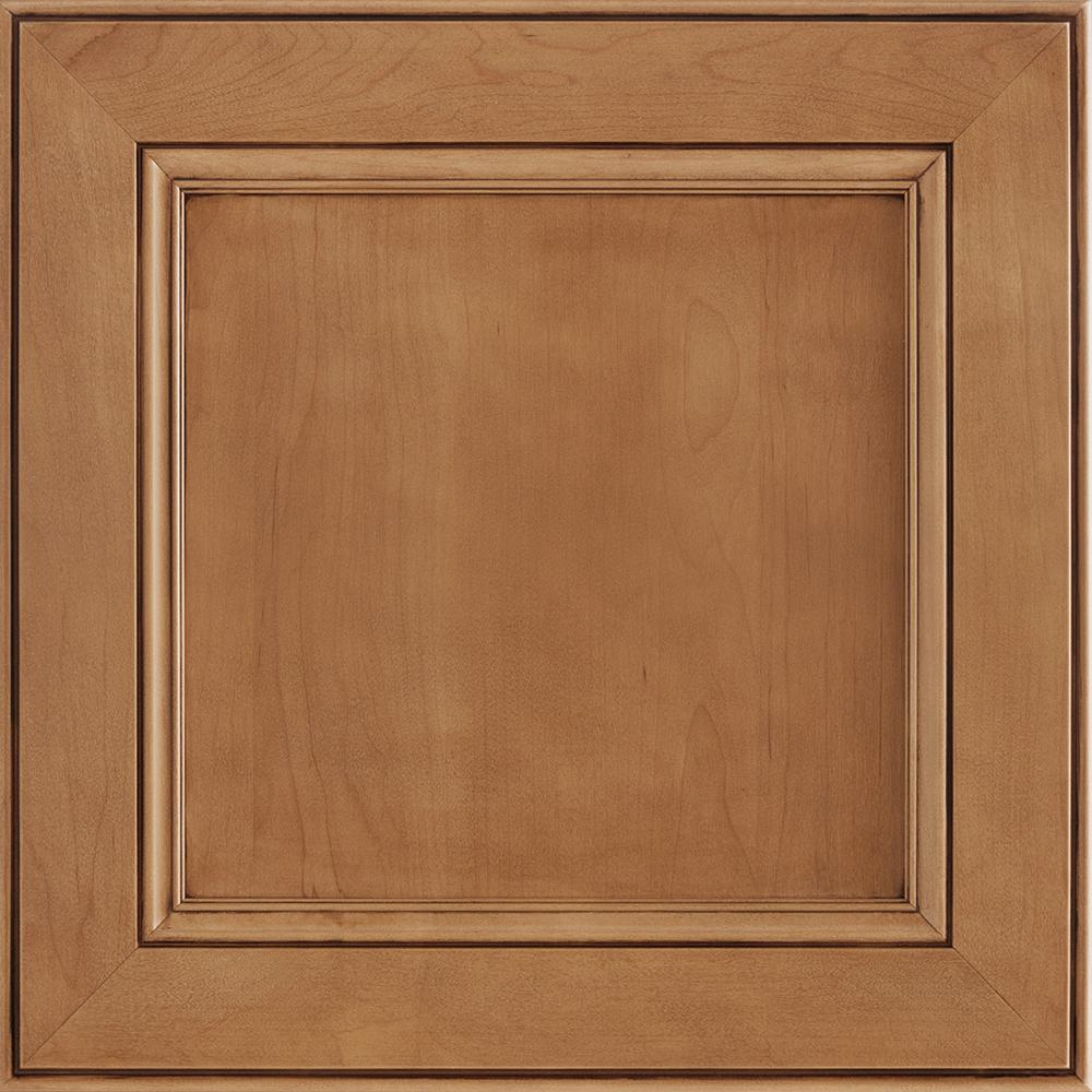 14-9/16 x 14-1/2 in. Cabinet Door Sample in MacArthur Maple Mocha