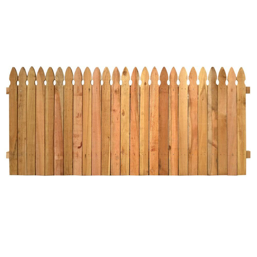 Superb Wooden Fence Part - 1: Outdoor Essentials 3-1/2 Ft. X 8 Ft. Western Red Cedar