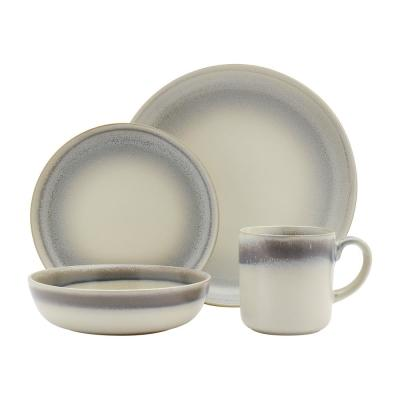 16-Piece Contemporary Ivory Stoneware Dinnerware Set (Service for 4)