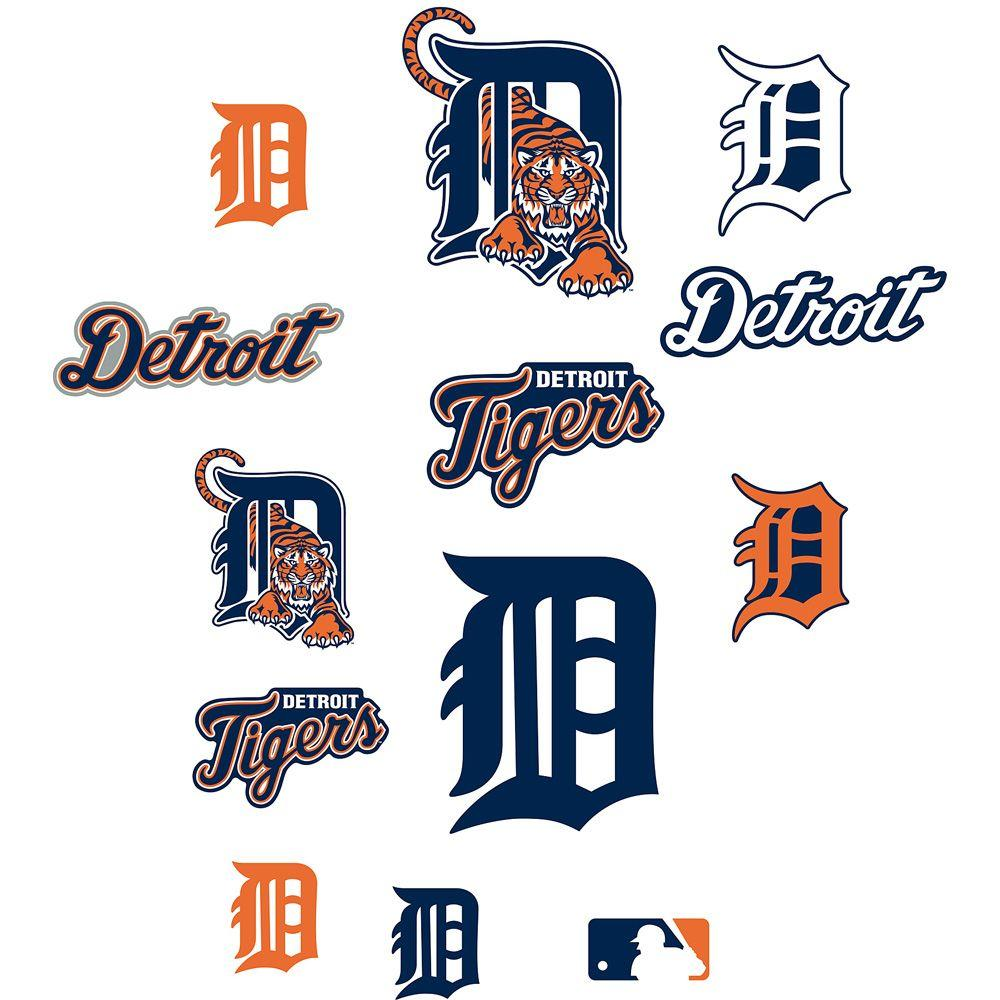 Fathead 40 in. x 27 in. Tigers Logo Sheet Wall Decal
