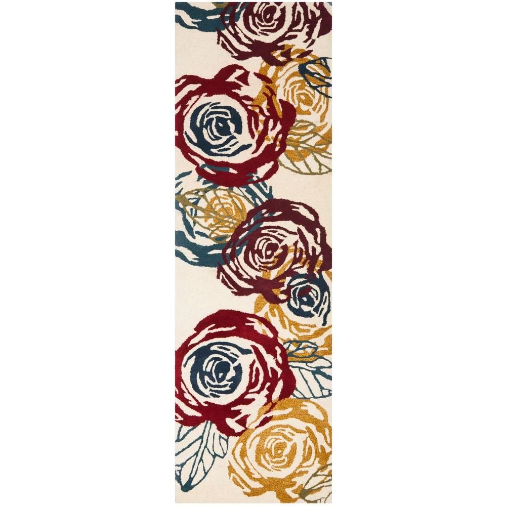 Soho Ivory/Multi 2 ft. 6 in. x 8 ft. Runner