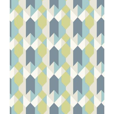 8 in. x 10 in. Copenhagen Blue Geometric Sample