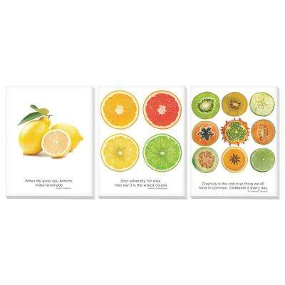 "11 in. x 14 in. ""Fruit"" Printed Canvas Wall Art"