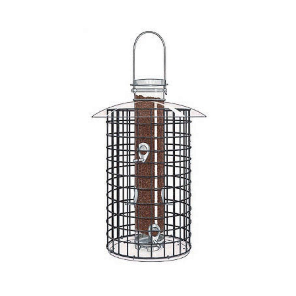 2.5 lbs. Black Domed Cage Shelter Feeder