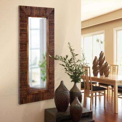 48 in. x 24 in. Walnut Rectangle Framed Mirror