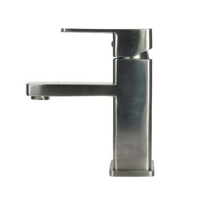 13.8 in. Single Hole Single-Handle Vessel Bathroom Faucet in Stainless Steel