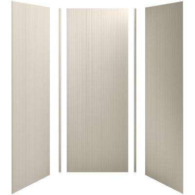 Choreograph 36 in. x 36 in. x 96 in. 5-Piece Shower Wall Surround in Sandbar with Cord Texture for 96 in. Showers