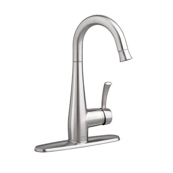Quince Single-Handle Bar Faucet in Stainless Steel