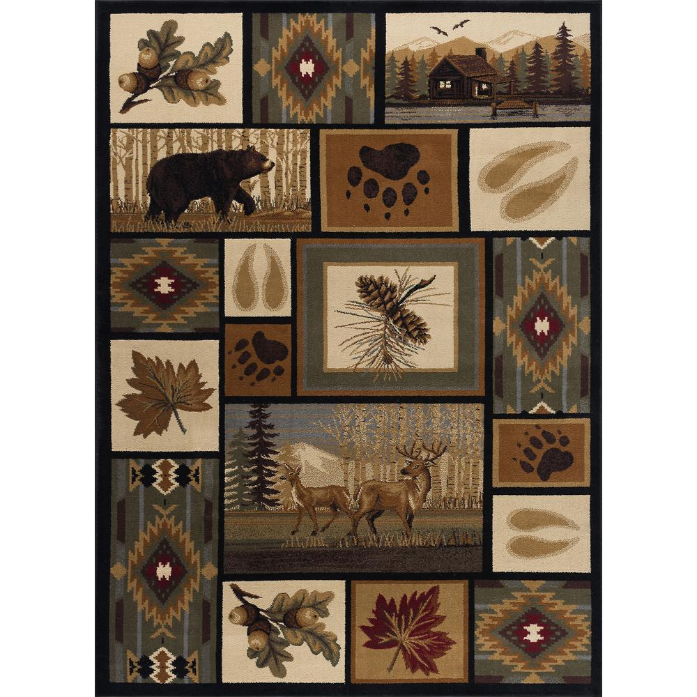 Tayse Rugs Nature Multi 4 Ft X 5 Ft Indoor Area Rug Ntr6660 4x6
