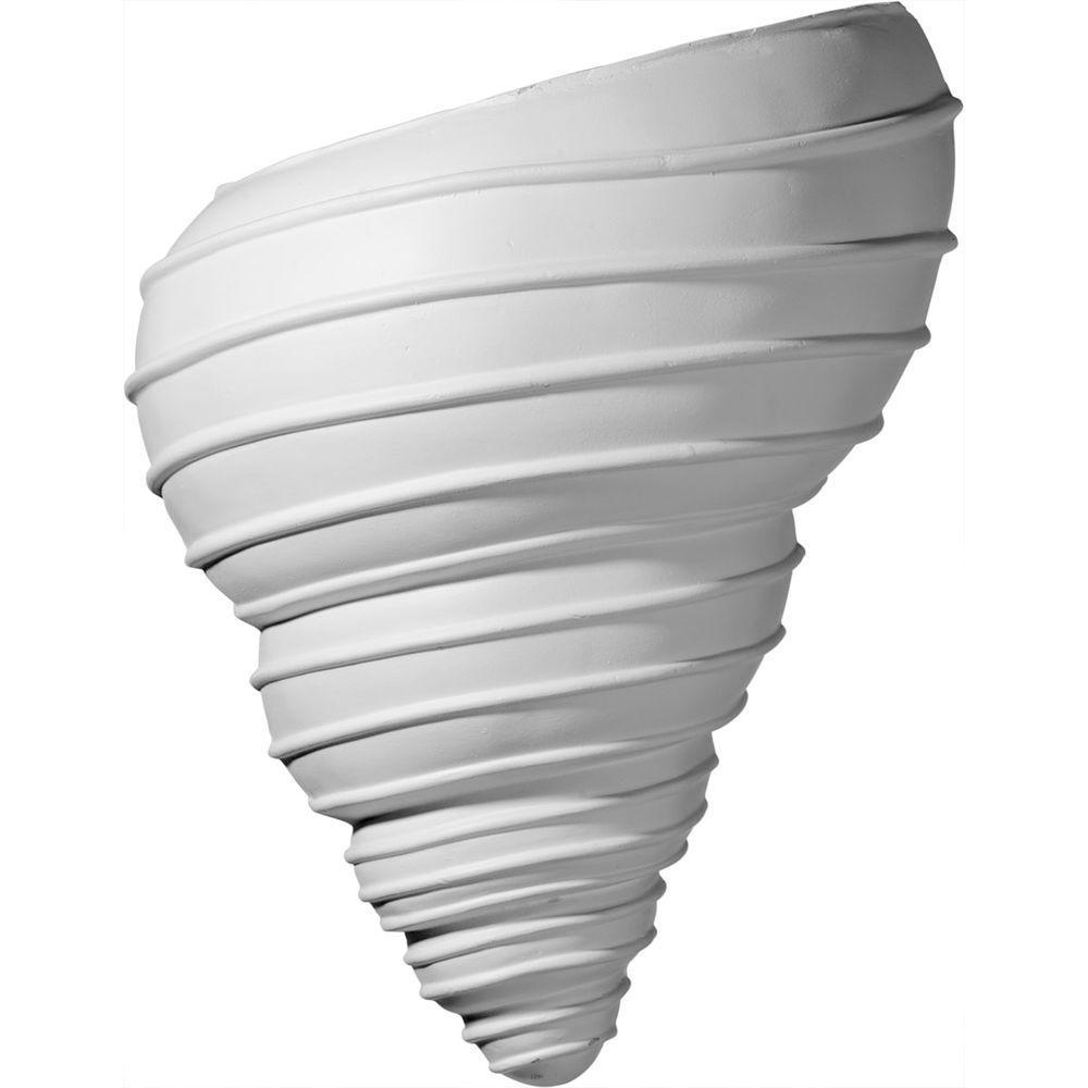 10-1/8 in. x 5-1/2 in. x 12-1/2 in. Primed Polyurethane Spiral