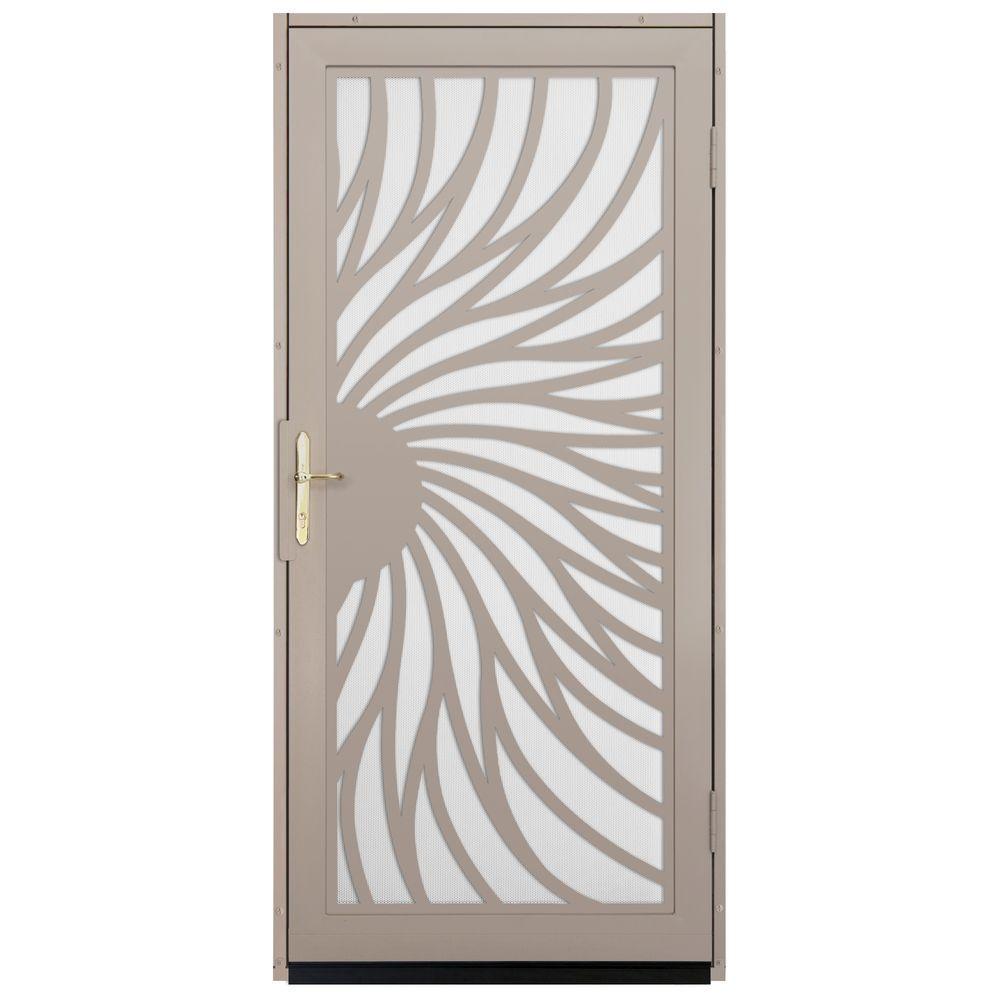 Exterior Screen Doors Home Depot: Unique Home Designs 36 In. X 80 In. Solstice Tan Surface