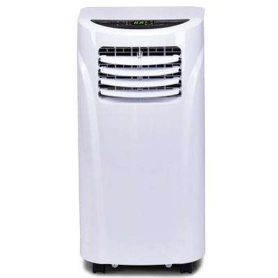10000 BTU Portable Air Conditioner and Dehumidifier Function Remote in White with Window Kit