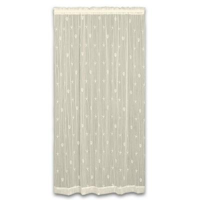 45 in. W x 96 in. L Sand Shell Polyester Ecru Lace Curtain