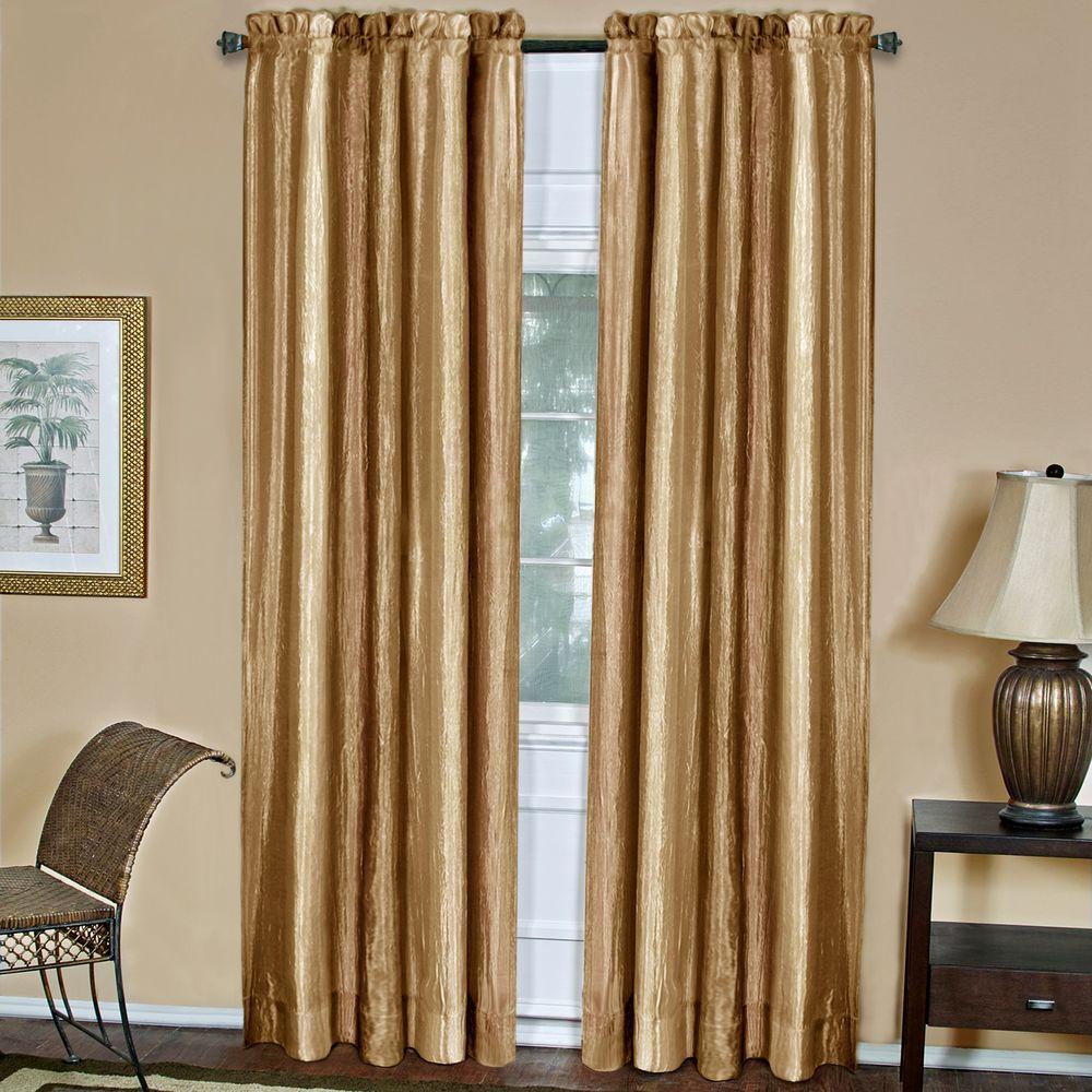 Achim Semi-Opaque Ombre Sandstone Polyester Curtain Panel - 50 in. W x 84 in. L