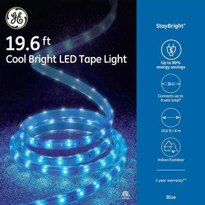 staybright 196 ft 240 light led blue