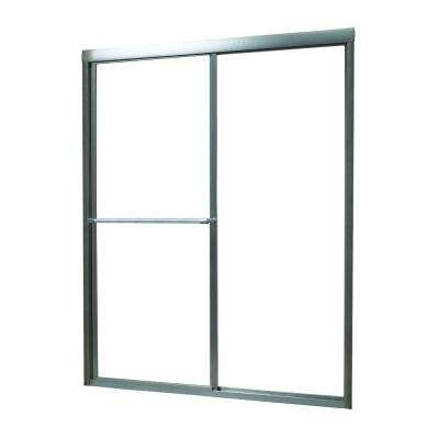 Tides 40 in. to 44 in. x 70 in. Framed Sliding Bypass Shower Door in Brushed Nickel and Obscure Glass