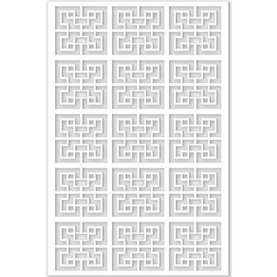 1/4 in. x 32 in. x 4 ft. White Chinese Style 2 Vinyl Decor Panel