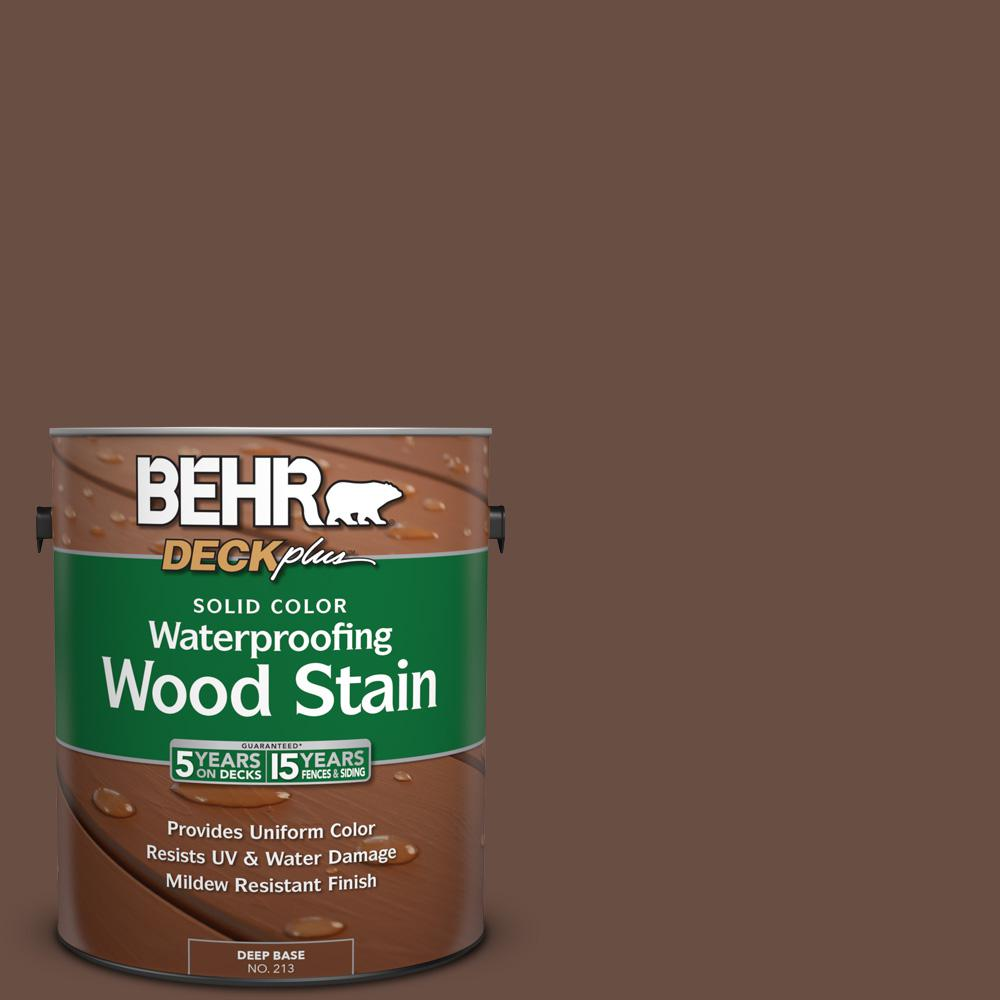 1 gal. #N190-7 Moose Trail Solid Color Waterproofing Wood Stain