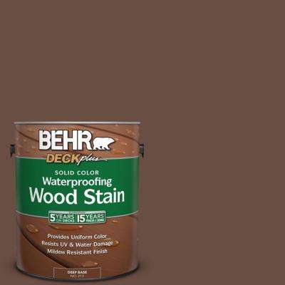 1 gal. #N190-7 Moose Trail Solid Color Waterproofing Exterior Wood Stain