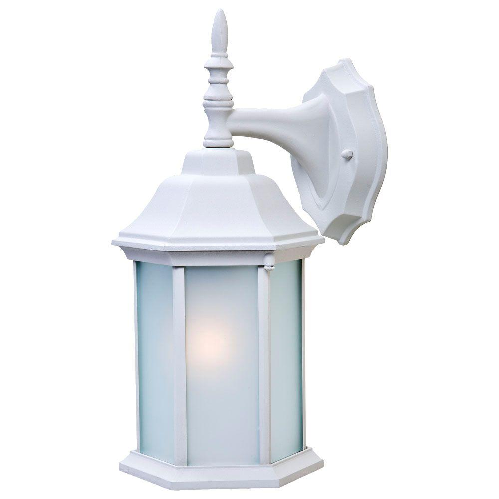 Acclaim Lighting Craftsman 2 Collection 1-Light Textured White Outdoor Wall Lantern Sconce