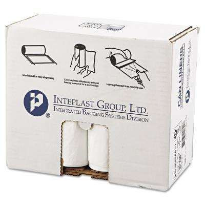 30 Gal. White Low-Density Can Liner (25/Roll, 8-Rolls/Carton)