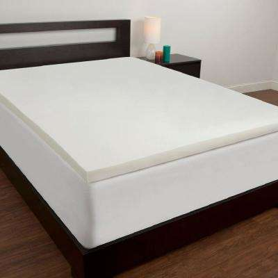 2 in. California King Memory Foam Mattress Topper