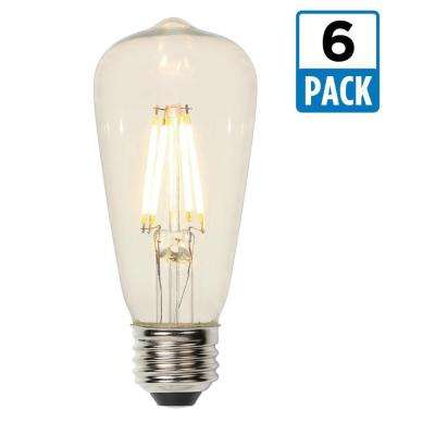 40W Equivalent Soft White ST15 Dimmable Filament LED Light Bulb (6-Pack)