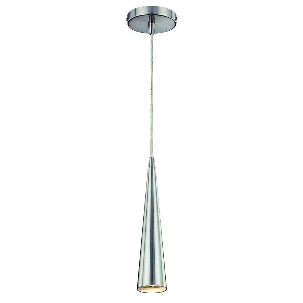 Eurofase Sliver Collection 1-Light Satin Nickel Pendant