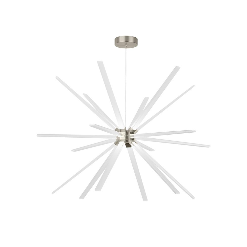 LBL Lighting Photon 18-Light Satin Nickel LED Chandelier 277-Volt Commercial