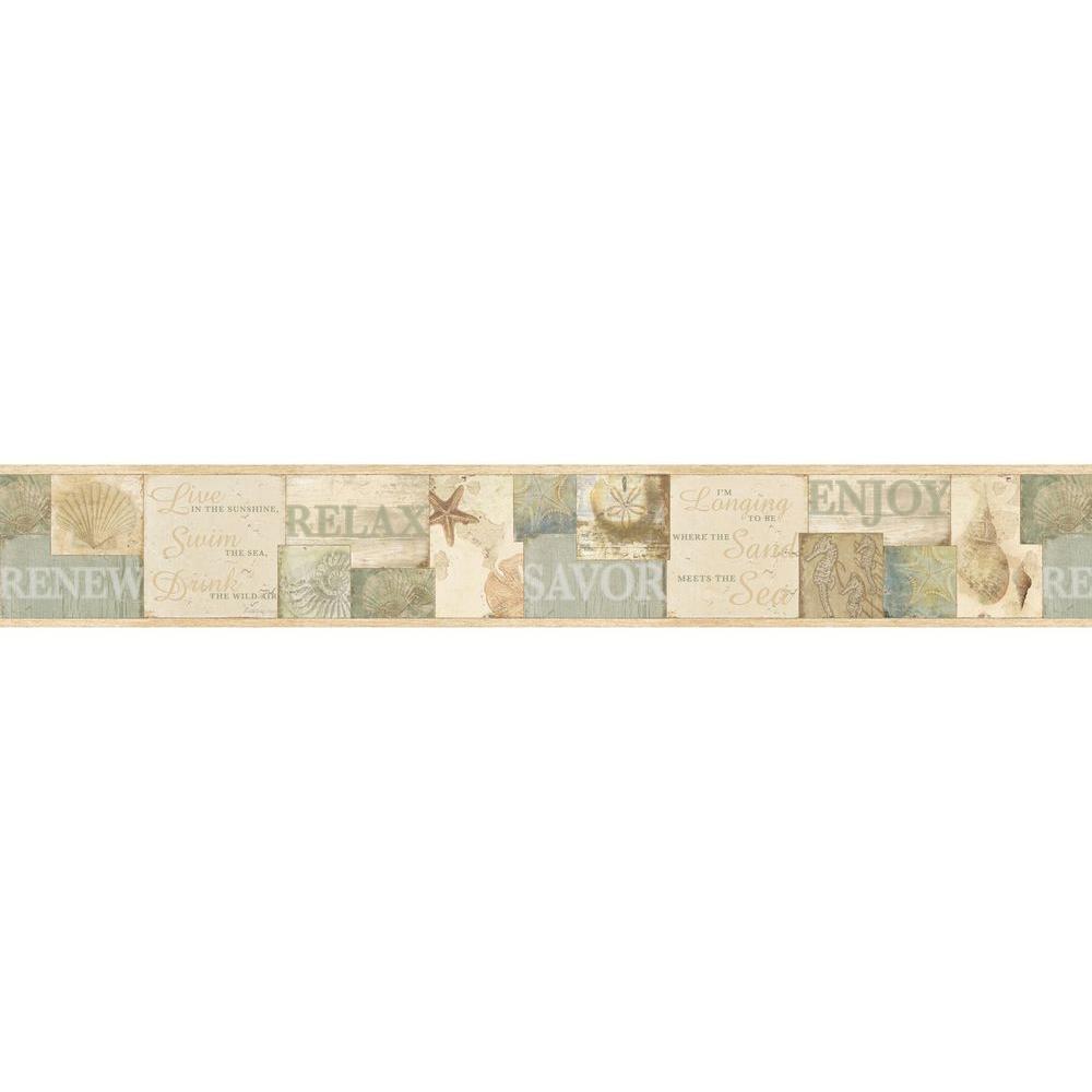Sagamore Beige Cape Cod Wallpaper Border Sample