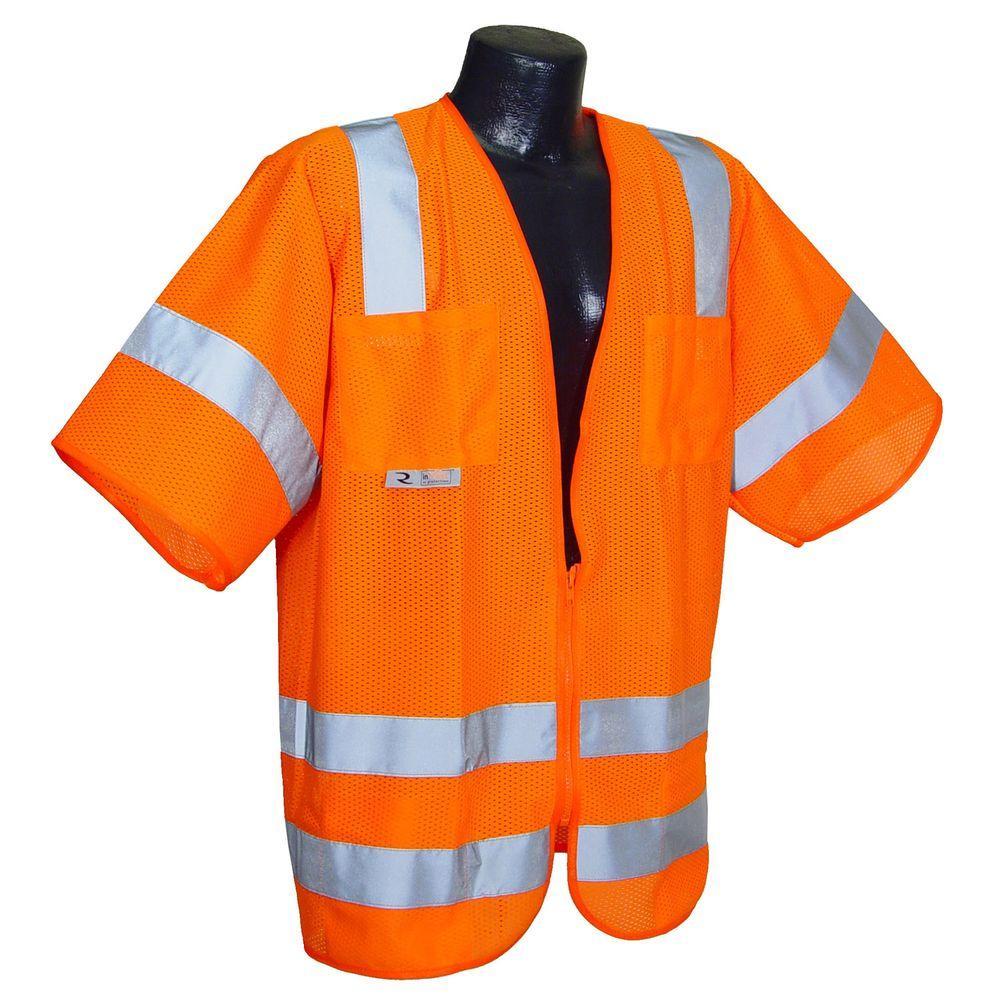 Radians Std Class 3 Mesh Orange 5X-Large Safety Vest