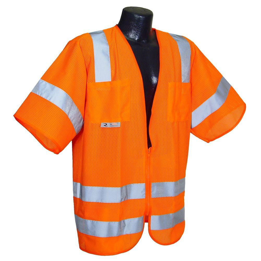 Std Class 3 Mesh Orange Extra Large Safety Vest