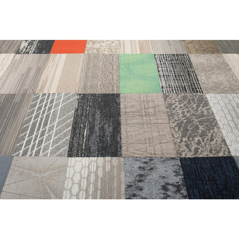 Versatile Assorted Pattern Commercial Peel And Stick 12 In X 36 In Carpet Tile Planks 10 Tiles Case