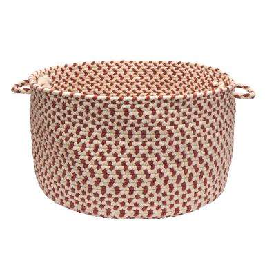 Dogwood 18 in. x 18 in. x 12 in. Rosewood Round Wool-Blend Basket
