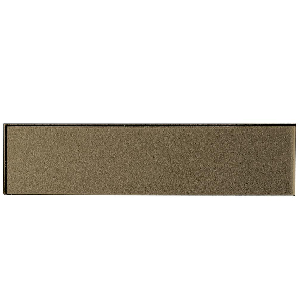 ABOLOS Forever Bronze Deco 2 in. x 8 in. Glossy Glass Wall Tile (1 Sq. Ft./Pack)