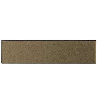 Secret Dimensions Bronze 2 in. x 8 in. Glossy Glass Wall Tile (9-Pack)