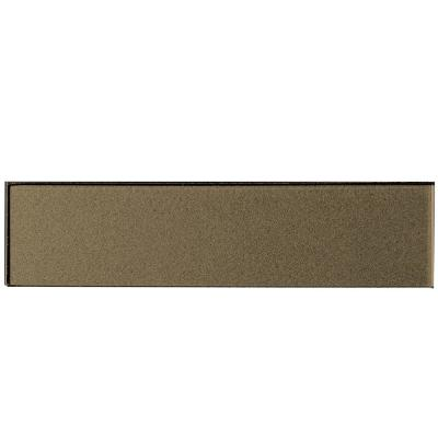 Forever Bronze Deco 2 in. x 8 in. Glossy Glass Wall Tile (1 Sq. Ft./Pack)